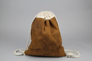 Daniel Drawstring Bag - Caramel